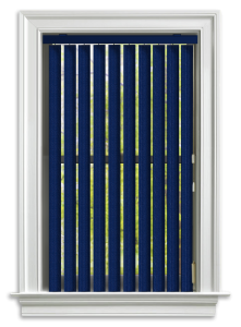 Blindcraft royal blue vertical blind