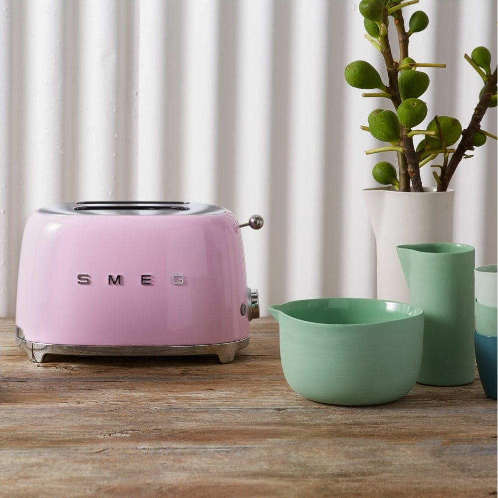 Pink SMEG toaster